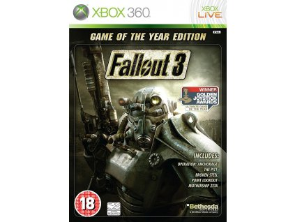 X360 Fallout 3 Game of the Year Edition