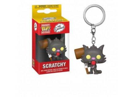 Merch Klíčenka Funko Pocket Pop! The Simpsons Scratchy