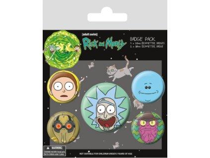 Merch Odznaky Rick and Morty Rick Crazy Smile