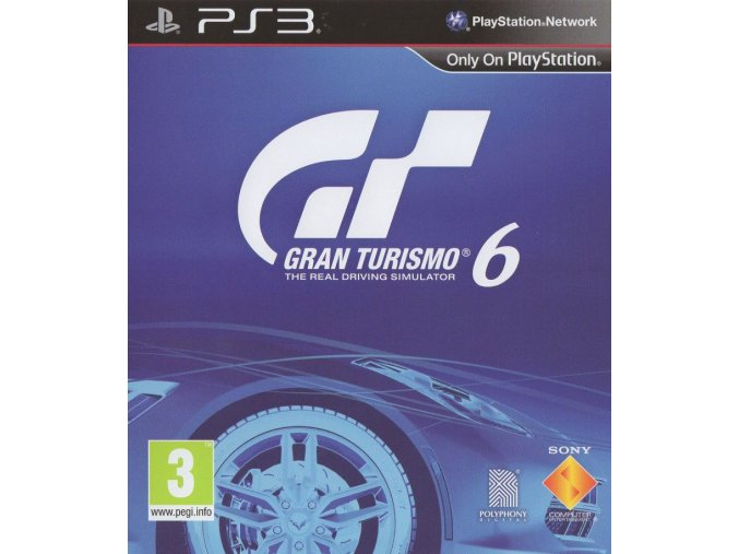 274689 gran turismo 6 playstation 3 front cover