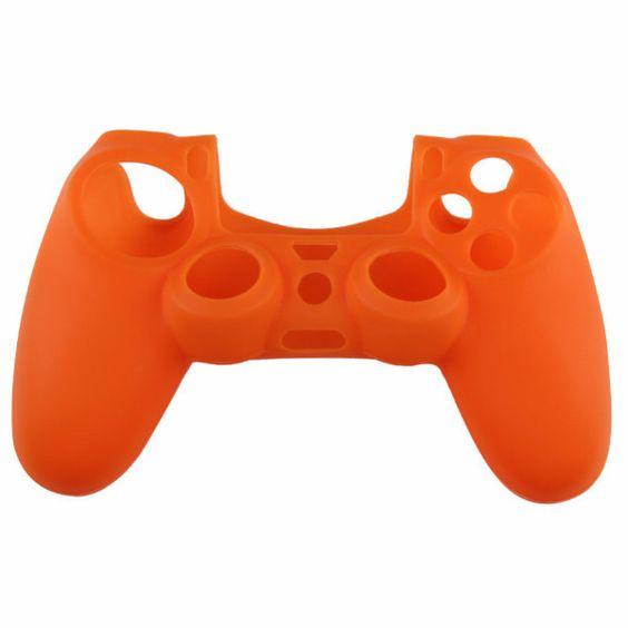 PS4 silikonový obal na ovladač oranžový Nové