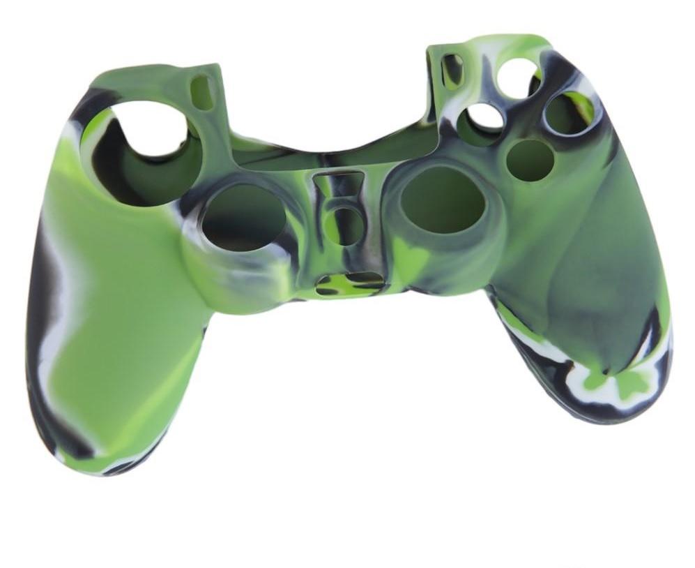 PS4 silikonový obal na ovladač kamufláž zeleno/černý Nové