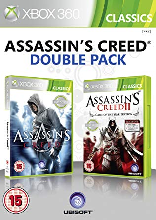 X360 Assassins Creed 1 + Assassins Creed 2