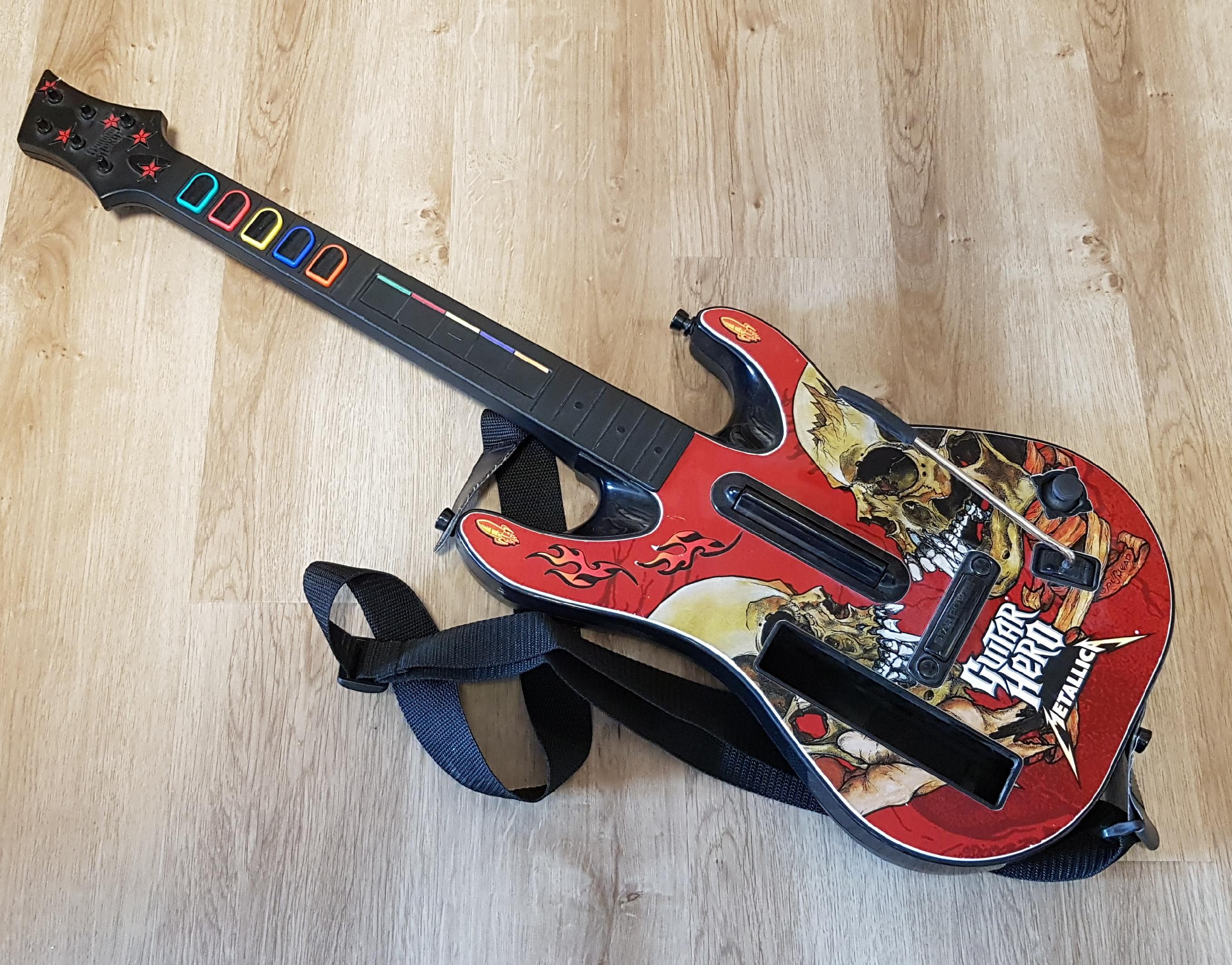 Wii Guitar Hero kytara