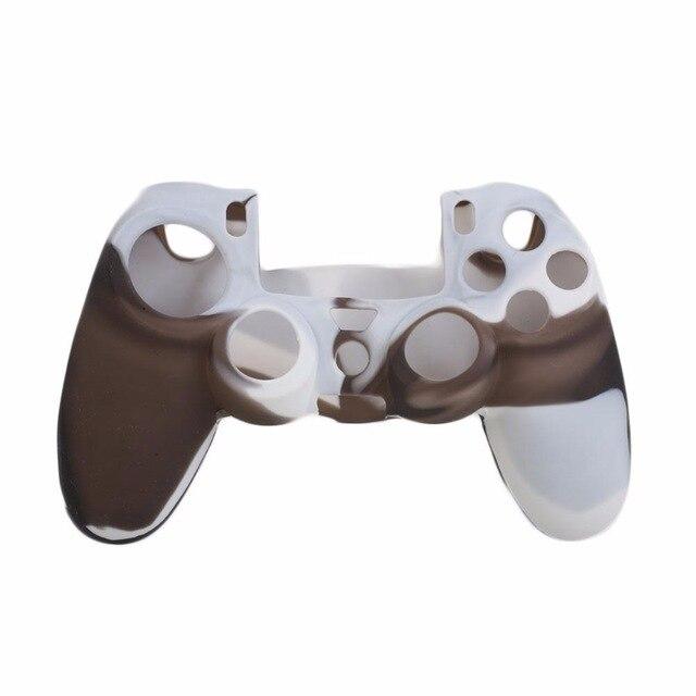 PS4 silikonový obal na ovladač kamufláž hnědo/šedý Nové
