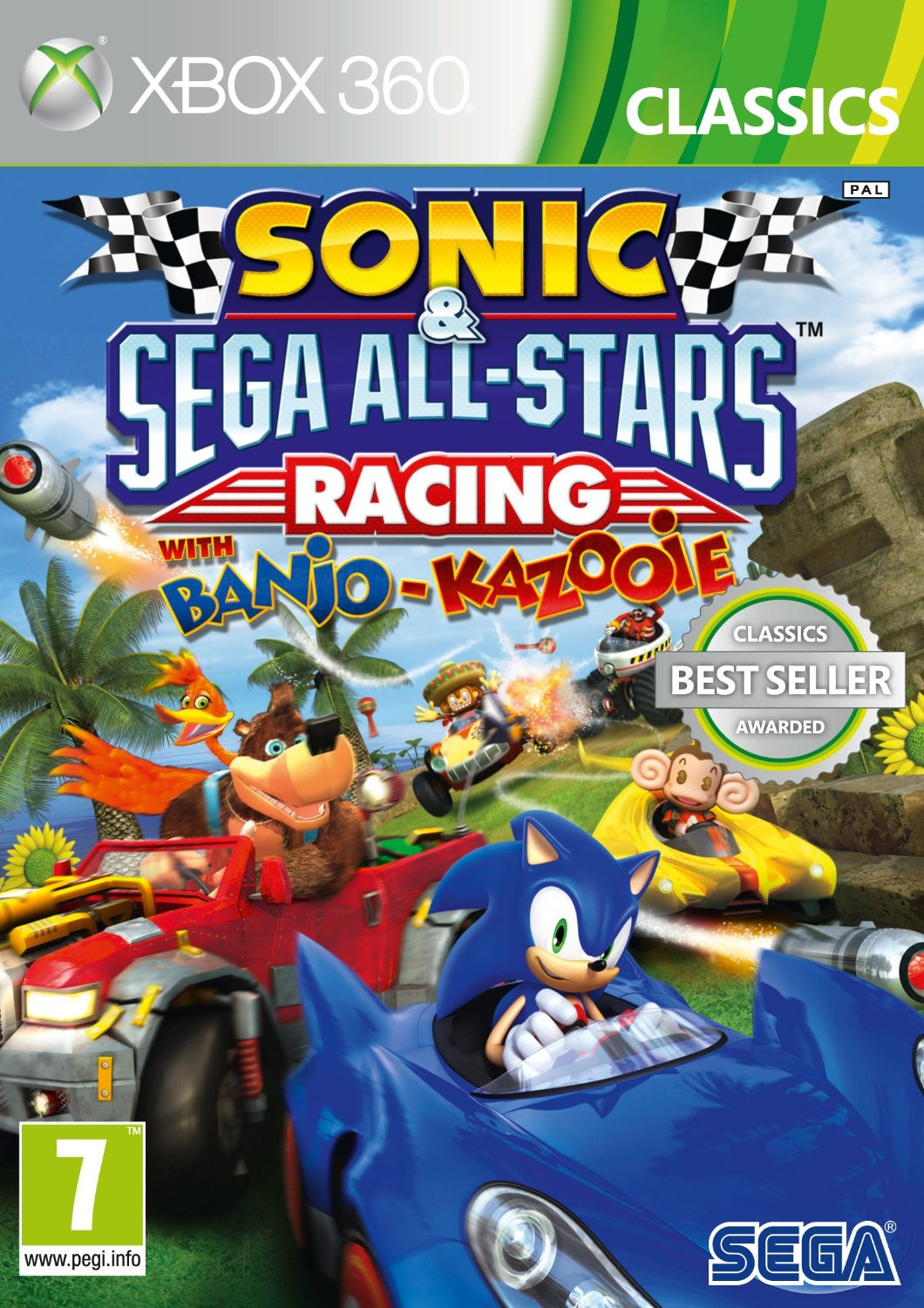 X360 Sonic and Sega All-Stars Racing with Banjo-Kazooie Nové
