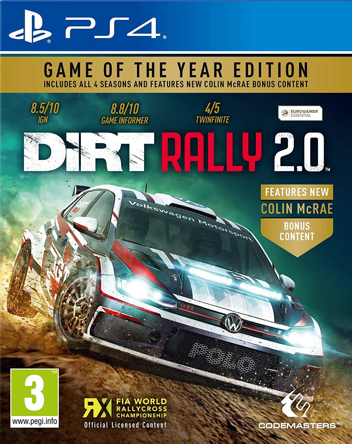 PS4 Dirt Rally 2.0 Game of The Year Edition Nové