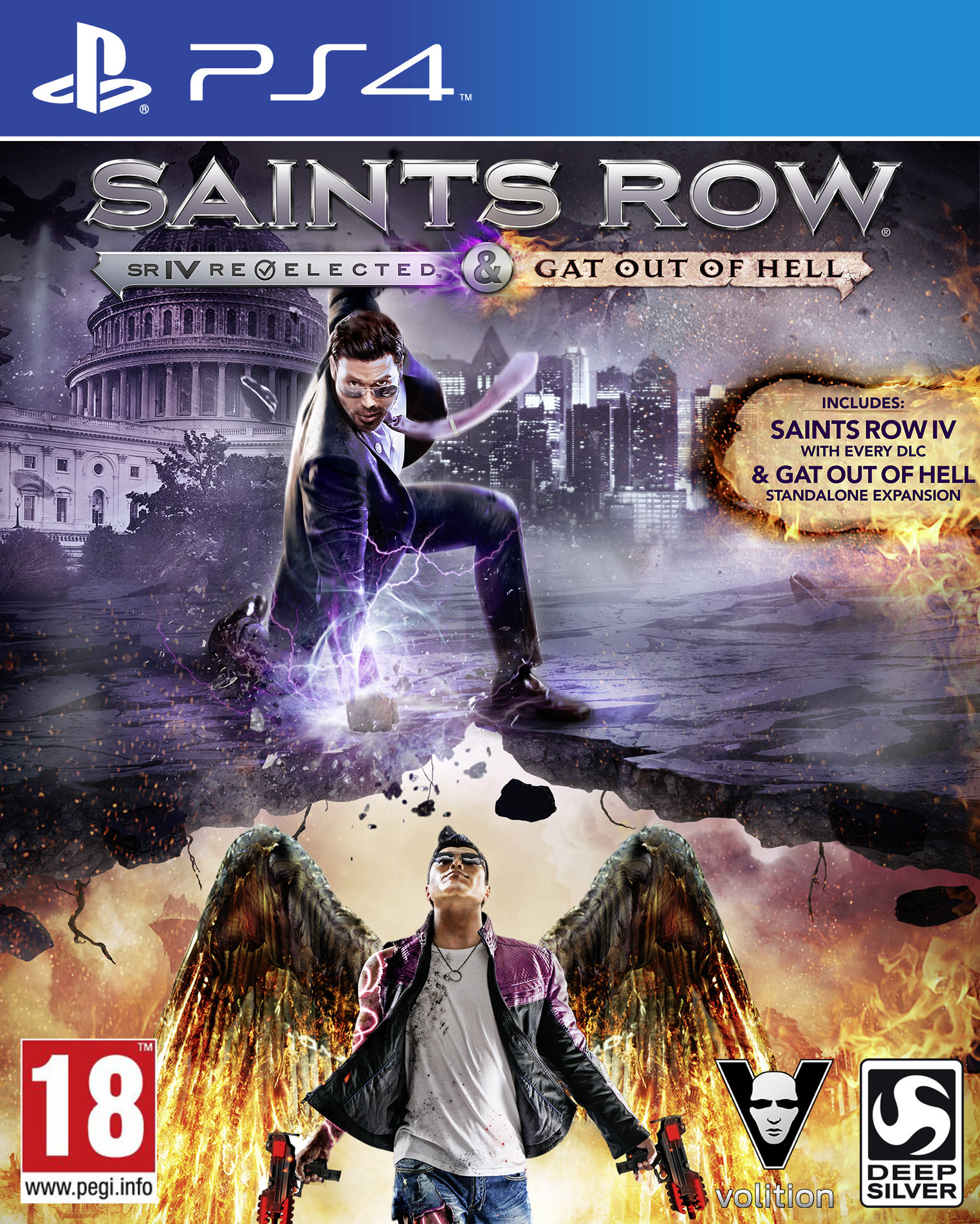 PS4 Saints Row 4 Re Elected and Gat Out of Hell Nové