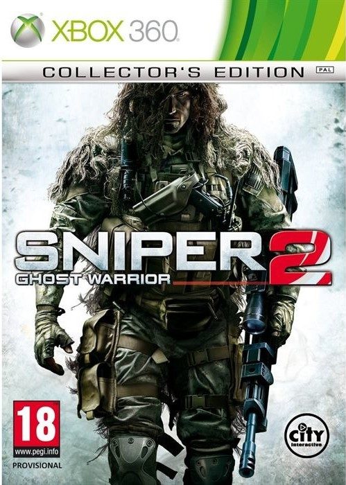 X360 Sniper Ghost Warrior 2 Collectors Edition Nové