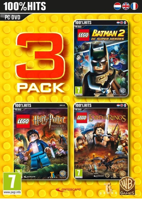 PC LEGO Triple Pack Batman 2 + HP 5-7 + The Lord of the Rings Nové