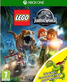 XONE Lego Jurassic World + figurka Gallimimus Nové