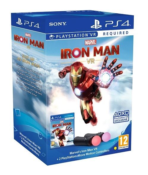 PS4 Playstation Move Twin Pack + Marvel Iron Man VR Nové