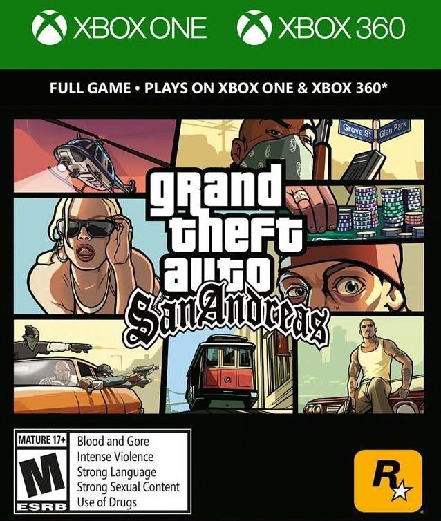 XONE/X360 Grand Theft Auto San Andreas Nové