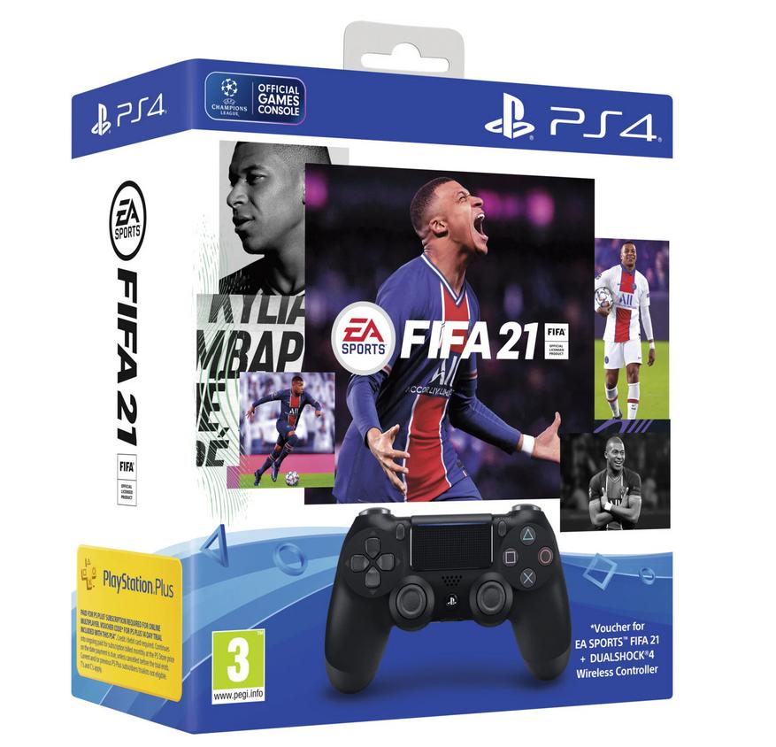 PS4 Sony Dualshock 4 Black V2 - FIFA 21 CZ Nové