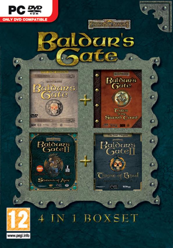 PC Baldurs Gate 4 IN 1 Boxset Nové