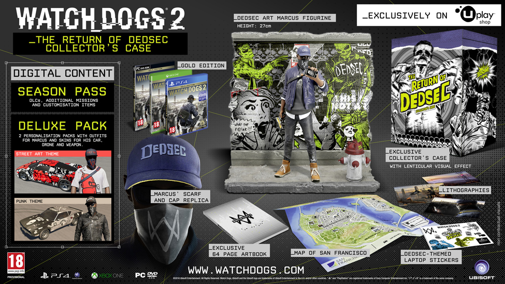 PS4 Watch Dogs 2 The return of Dedsec Collectors Edition CZ Nové