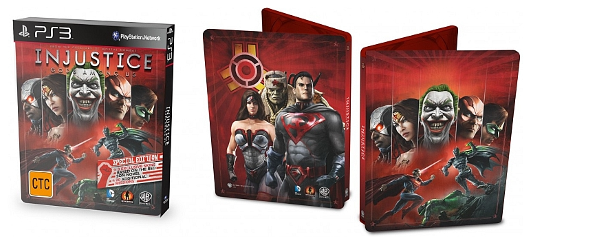 PS3 Injustice Gods Among Us Special Edition Steelbook Nové