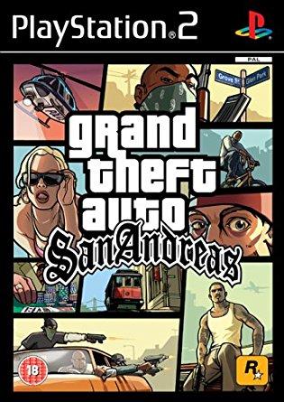 PS2 Grand Theft Auto San Andreas-