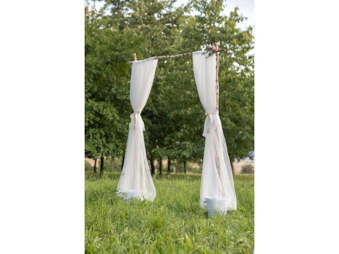 Záclona bílá - pár