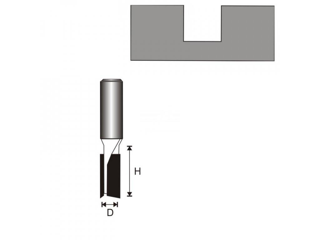 Fréza na dřevo drážkovací 2 destičky T12 D12 H25 mm DEDRA 07F023C