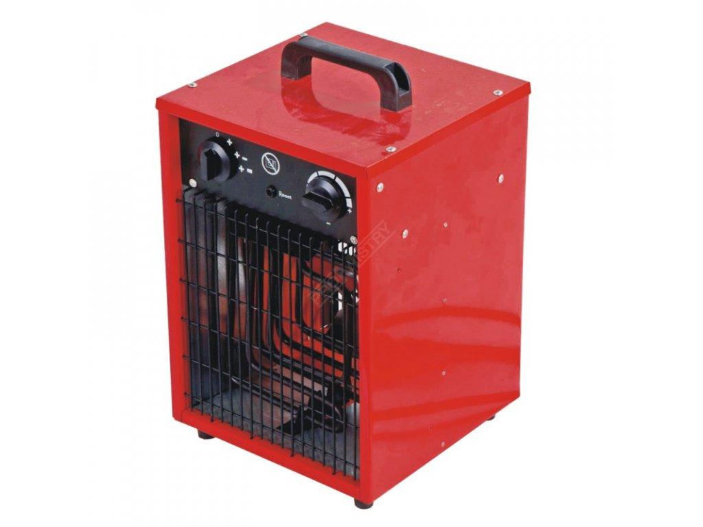 Elektrické topidlo 2000 W DEDRA DED9920  + termostat a vestavěný ventilátor