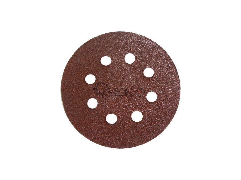 Brusný papírový výsek s otvory se suchým zipem (korund) - 125 mm / P40