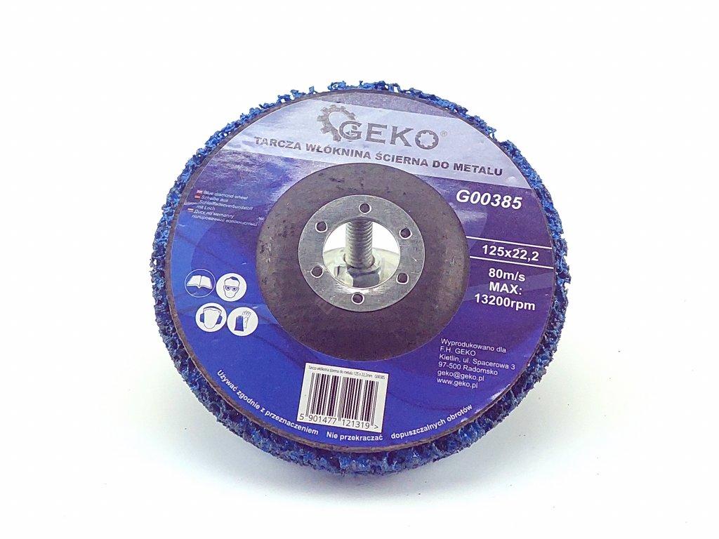 Porézní čistící a leštící kotouč do úhlové brusky (modrý) - 125x22,23 mm