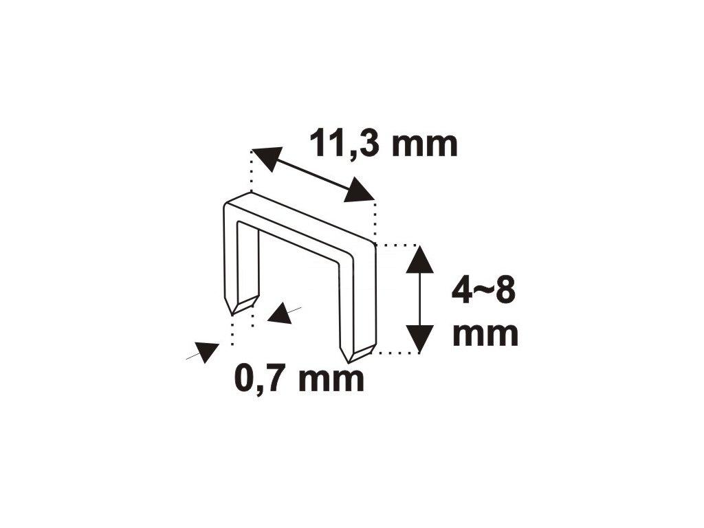 Ruční sponkovačka čalounická 4-8 mm DEDRA 11Z001