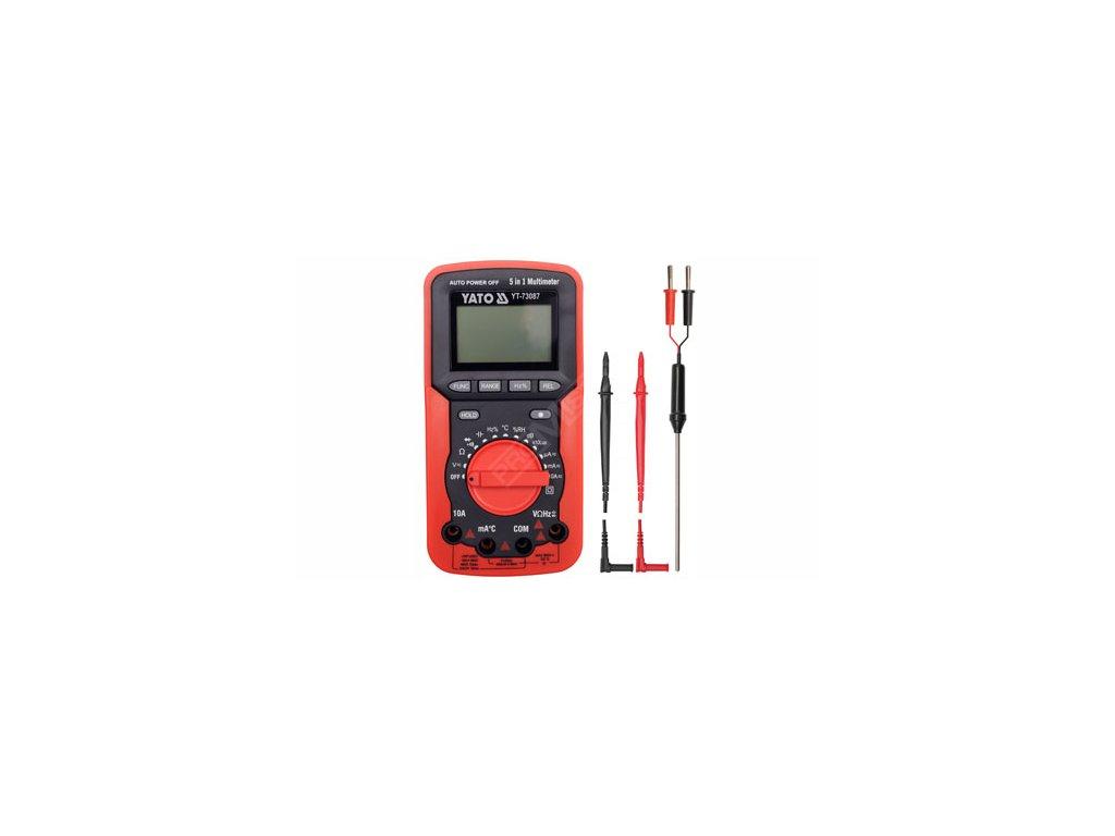 Multimetr digitální  5v1 Yato YT-73087