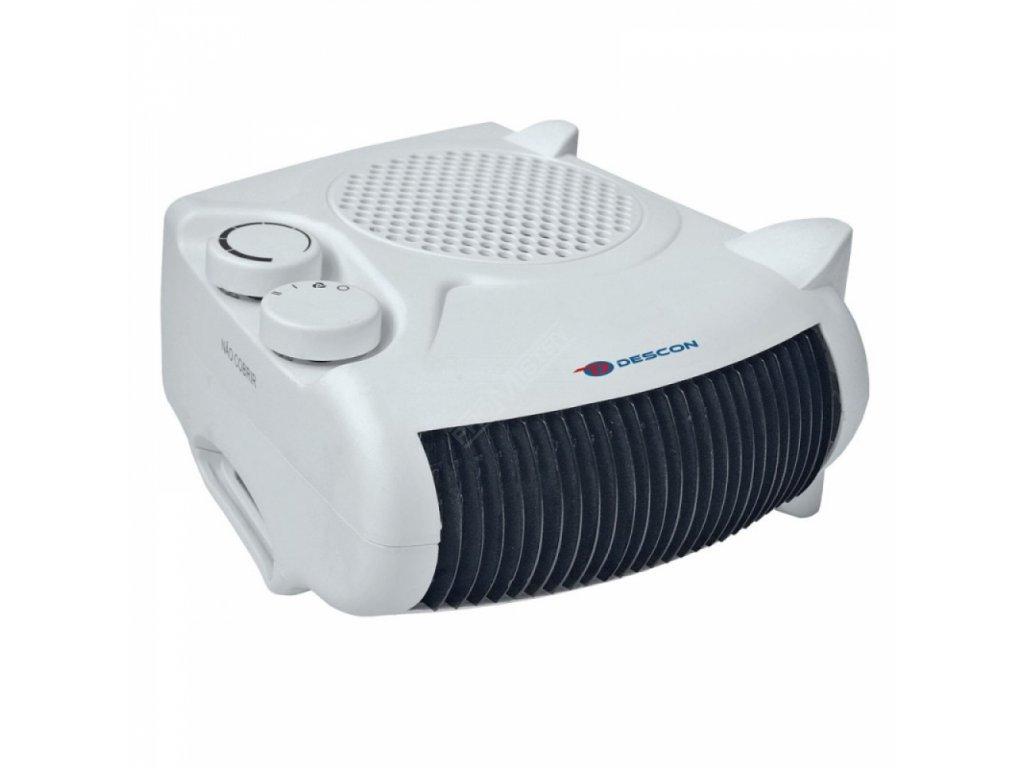 Elektrický přímotop 1000/2000 W DESCON DA-T201  + termostat a vestavěný ventilátor