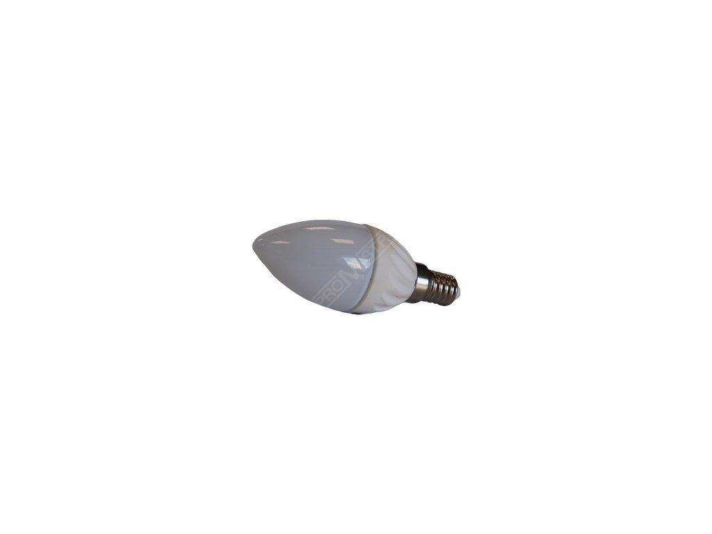 LED žárovka svíčka, závit E14 -- ekvivalent 30W