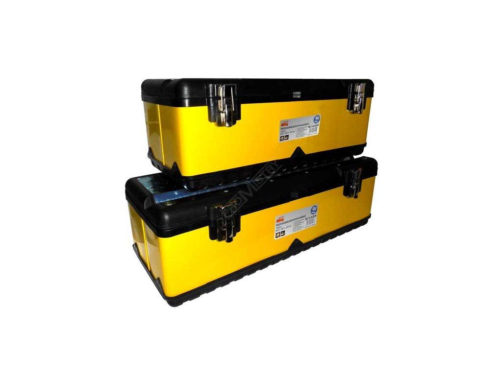 Profesionální kufr na nářadí - kov + plast (660 x 280 x 220mm)