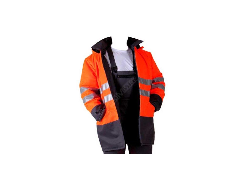 Pánský nepromokavý kabát s reflexním vzorem, výškový typ 182 - velikost 58 MAGG 1871-88-58