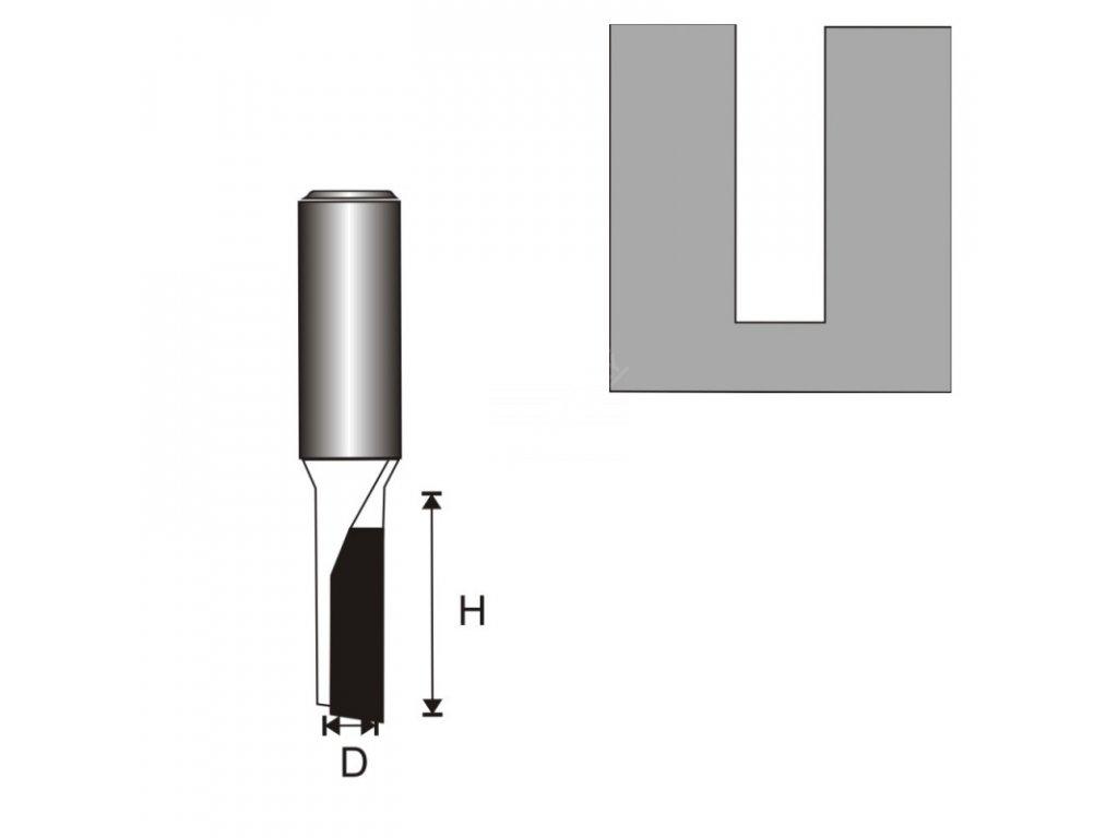 Fréza na dřevo drážkovací 1 destička T8 D3,96 H11 mm DEDRA 07F011B