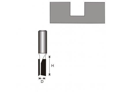 Fréza na dřevo drážkovací 2 destičky T8 D8 H19 mm DEDRA 07F022B