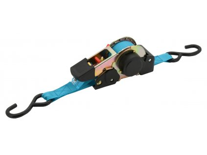 Popruh s ráčnou a háky samonavíjecí 320daN 3,5m TÜV BLUE WAY Compass 02261