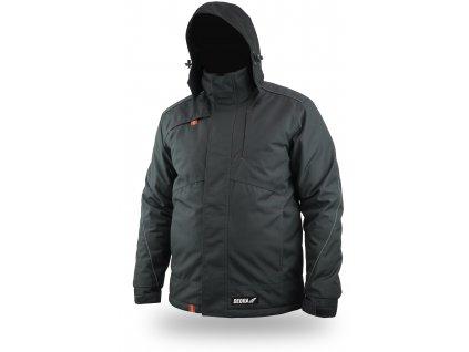 Zateplená zimní bunda, svinovací kapuce, velikost XXXL