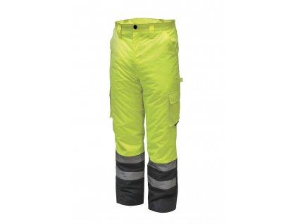 Reflexní zateplené kalhoty vel. XXXL, žluté