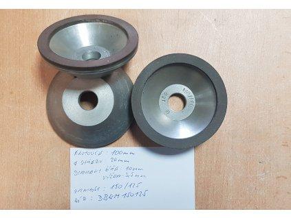 Diamantový brusný kotouč na tvrdokov - miskový 100x20 mm P160/125 MICRON DBKM150125