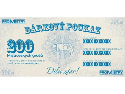 Dárkový poukaz Promistry.cz na 200Kč