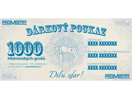 Dárkový poukaz Promistry.cz na 1000Kč
