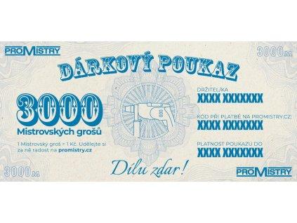Dárkový poukaz Promistry.cz na 3000Kč