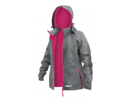 Dámská softshellová bunda, vel.XL, 96%polyester+4%elastan DEDRA BH65KS-XL