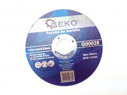 Řezný kotouč na ocel, 125x1,0mm GEKO nářadí G00027