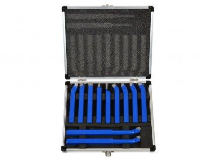 Soustružnické nože, sada 11ks, 10x10mm, uloženo v kufru GEKO nářadí G01241