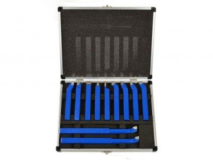 Soustružnické nože, sada 11ks, 12x12mm, uloženo v kufru GEKO nářadí G01242