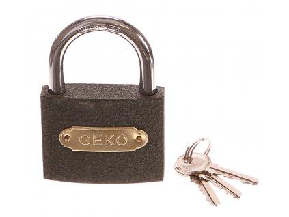 Zámek visací, 75mm, 3 klíče GEKO nářadí G01314