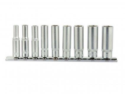 Hlavice nástrčné prodloužené, sada 9ks, 5-13mm GEKO