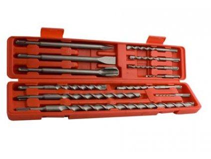 Sada 12 ks vrtáků a sekáčů  SDS+ v plastovém kufříku MAGG 271120