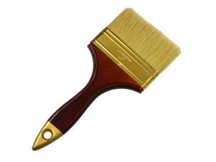 Štetec plochý, 100 mm, dřevěná rukojeť, GEKO PROFI
